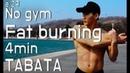 Whole body No Gym workout 30/10 4min Tabata 4분 전신 근력강화 타바타 4分钟高强度的全身运动。