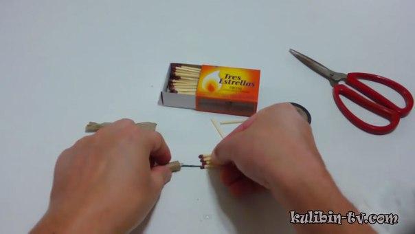 Как сделать легкую петарду из спичек