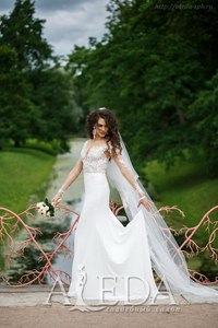 Наша 👰💍#невестаАледа #brideAleda Ольга в платье  👗 Ванесса 😍 #millanova