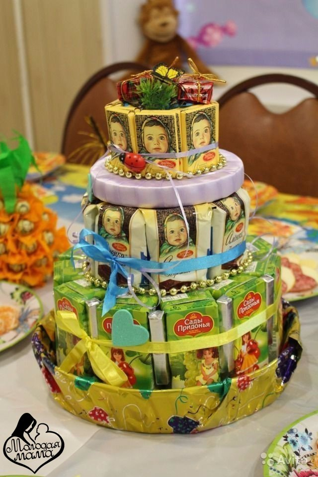 Как сделать на день рождения торт из бумаги 332