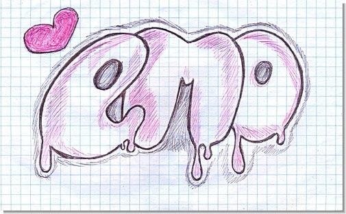 Картинки про любовь с надписями нарисованные карандашом