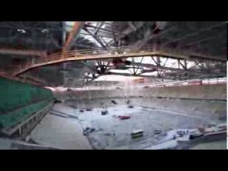 Съемка стадиона «Открытие Арена».18 января 2014 года