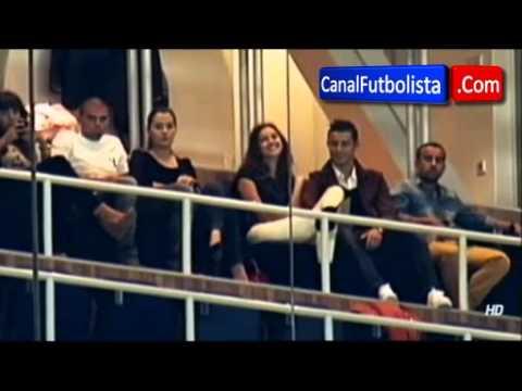 Cristiano Ronaldo e Irina Shayk de amores en el Trofeo Santiago Bernabeu