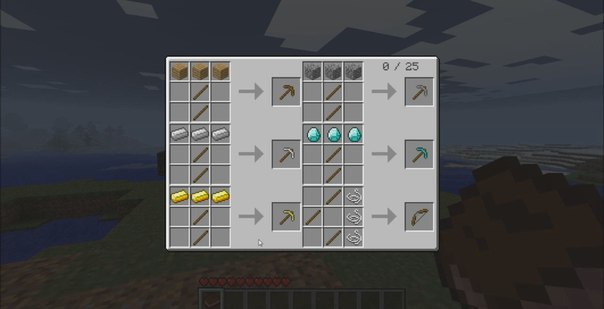 Рецепты крафта minecraft 1 4 2