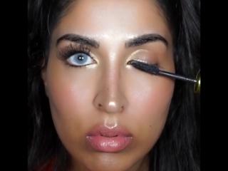 Как с помощью макияжа увеличить глаза?