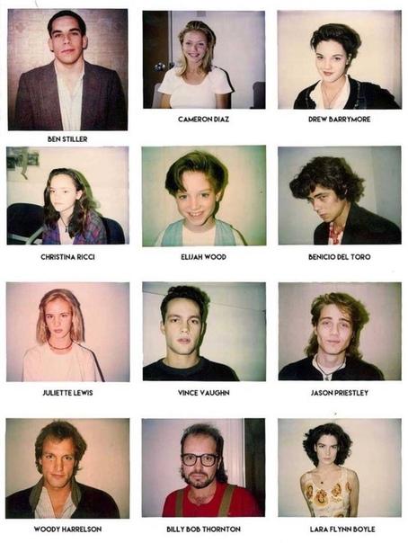 Знакомые лица на полароидных снимках с кастинга режиссера Мали Финна 1980 гг.