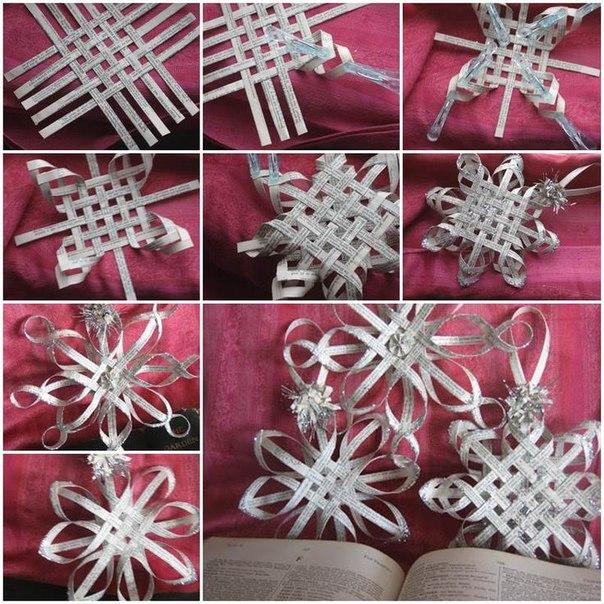 Новогодние снежинки объёмные своими руками из бумаги