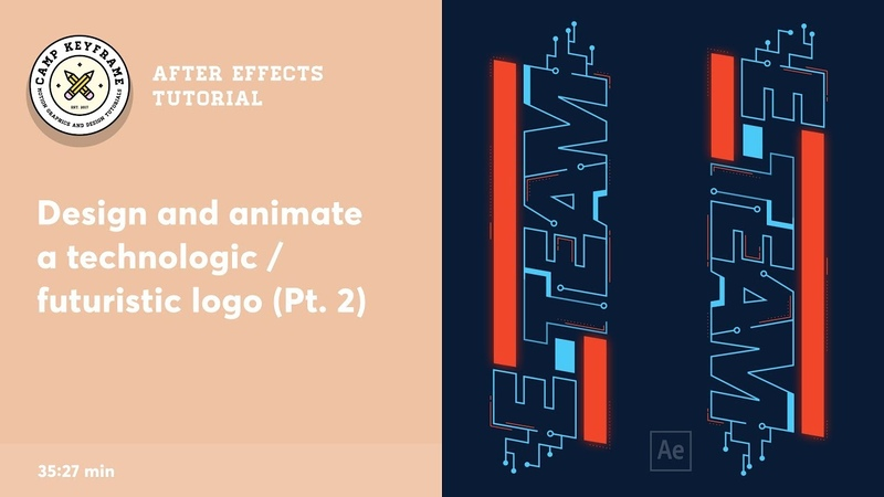 After Effects Tutorial - Design and animate a 'tech' logo (part 2)