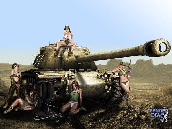 танк и девушка фото