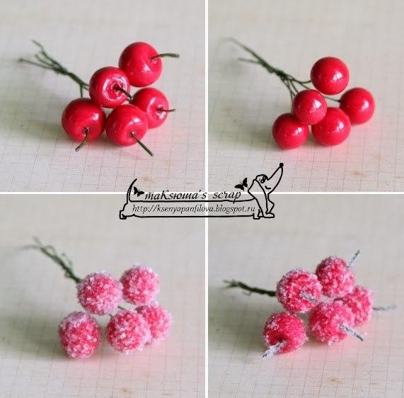 МК декоративные ягодки в обсыпке и без (7 фото) - картинка