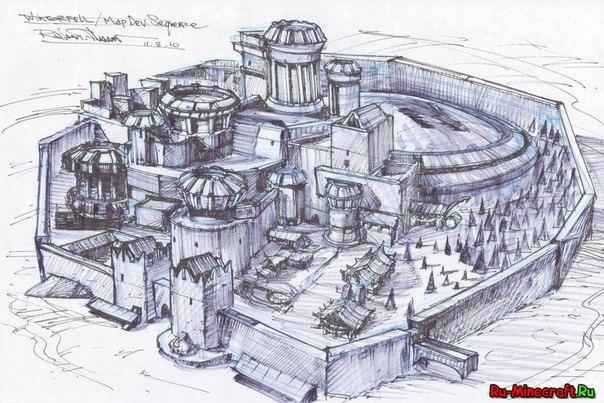схема построения замка)