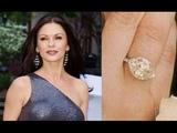 Catherine Zeta-Jones Flawless Morganite &amp Diamond Ring Set In Solid 14K White Gold Must Be Sold