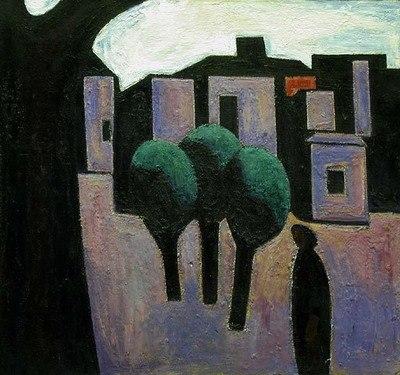 Басов И.М. Дома и деревья. 1972
