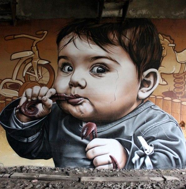10 уличных рисунков, которые смотрят прямо в душу