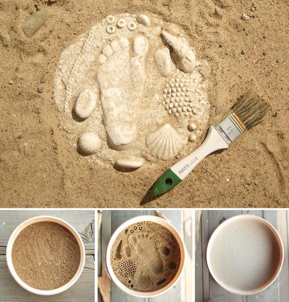 Как сделать Поделки из песка своими руками