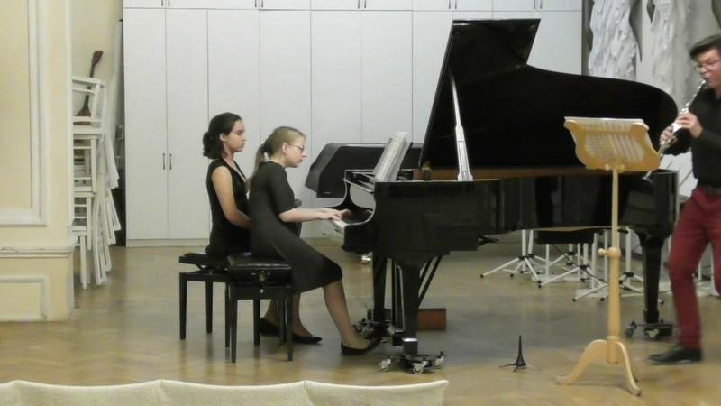 Раков. Соната для кларнета и фортепиано, 1 часть. Исп. С.Зверева, И. Гиндин.