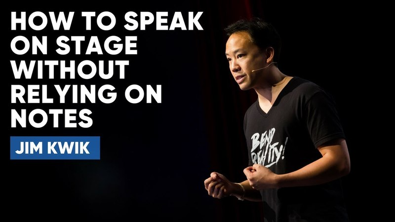 How To Speak On Stage Without Relying On Notes   Jim Kwik