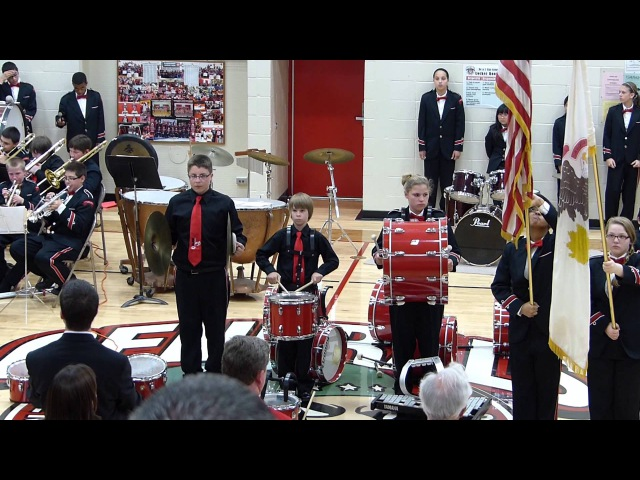 Star Spangled Banner Cymbal Fail -- 2013.05.18 EJH Red White Concert