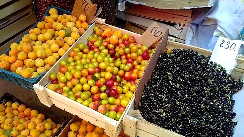 ФРУКТЫ на рынке Махачкалы продаются ЯЩИКАМИ И ВЕДРАМИ июнь 2019 Каспийское море Дагестан