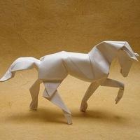 Как сделать лошадь из бумаги - оригами (horse paper) - YouTube.