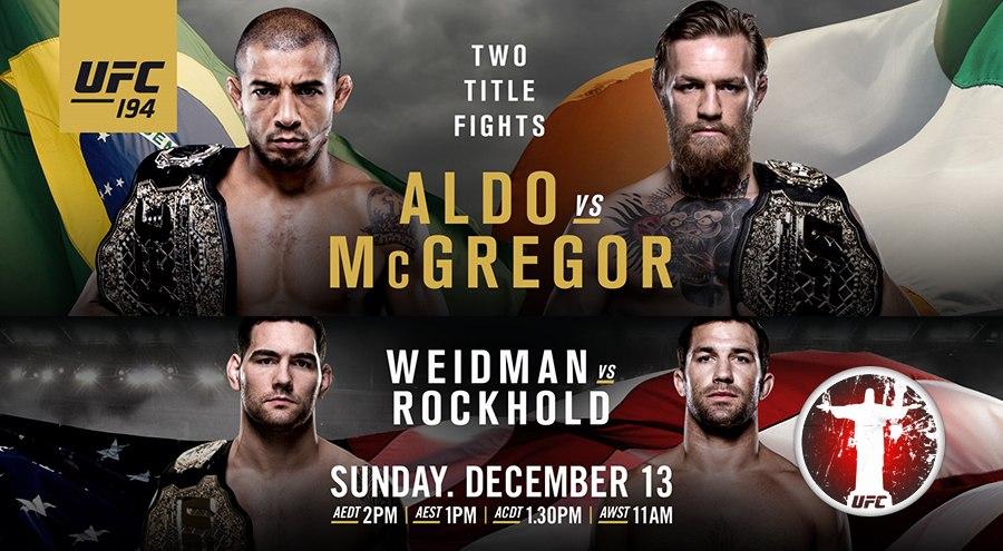 UFC 194: Aldo vs. McGregor
