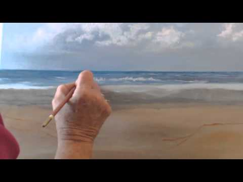 How to paint a beach scene in oils. Session 4