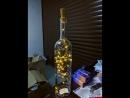 Бутылка с гирляндой