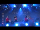 Елена Князева(#FIFAFanFest,Воробьёвые Горы,2.7.18)