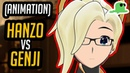Animated HANZO VS GENJI BATTLE Unleash the Dragon by JT Music Dillon Goo