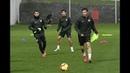 El Sevilla FC entrenó en Lezama este viernes