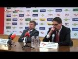 КХЛ'13/14: Пресс-Конференция после матча между командами ХК «Спартак» - ХК «Локомотив».