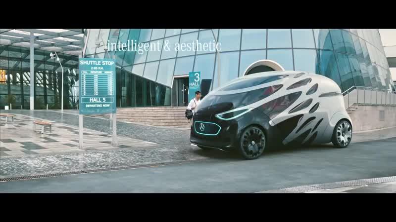 Mercedes представил стильный концепт беспилотного микроавтобуса