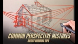 Common Perspective Mistakes - Artist Drawing tips