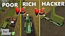 Farming Simulator 17 : POOR vs RICH vs HACKER | SILAGE MAKING COMPARISON