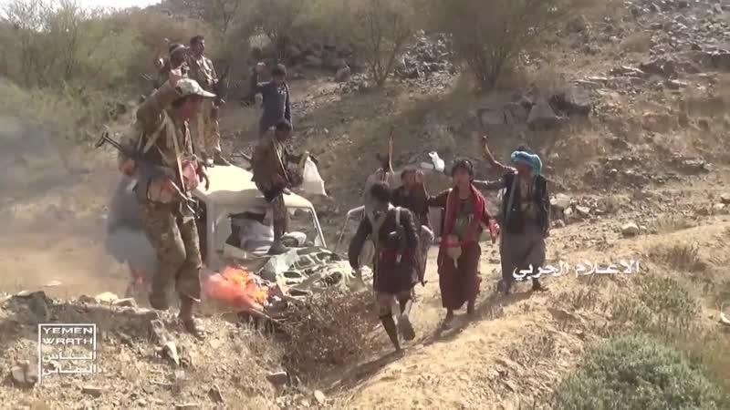 Хуситы на захваченных позициях хадистов в районе горы Аль-Нар, Хаджа.