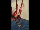 Флай-йога Как я научилась летать. Кувырок назад с жердочки