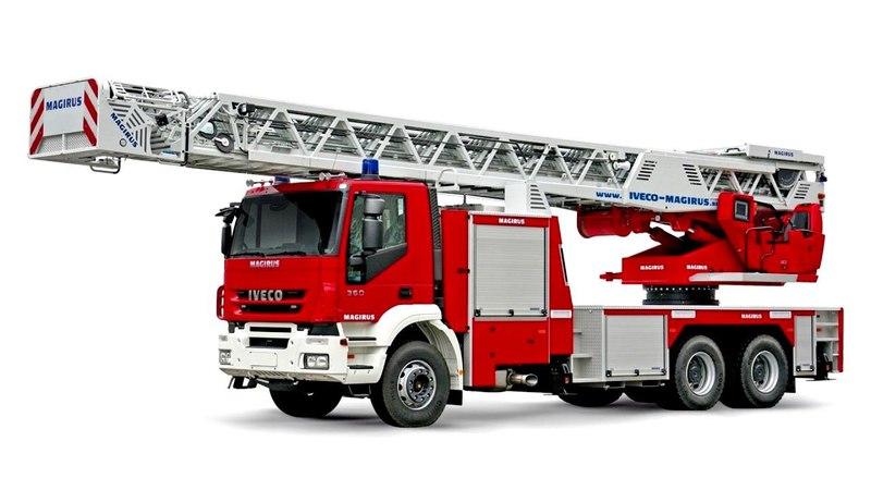 Iveco Magirus Trakker 360 64 Feuerwehr Drehleiter DLK 60 CS M 60 L 2007 12