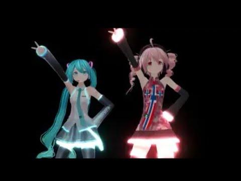 MMD I = FANTASY 重音テト 初音ミク Kasane Teto Miku Hatsune VOCALOID UTAU cover RUS SUB