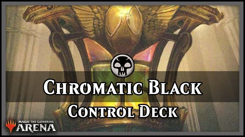 Chromatic Black Control Deck | Guilds of Ravnica Standard Magic / Arena
