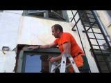 монтаж  окон в доме которому 375 лет  АМСТЕРДАМ installation of windows in the house