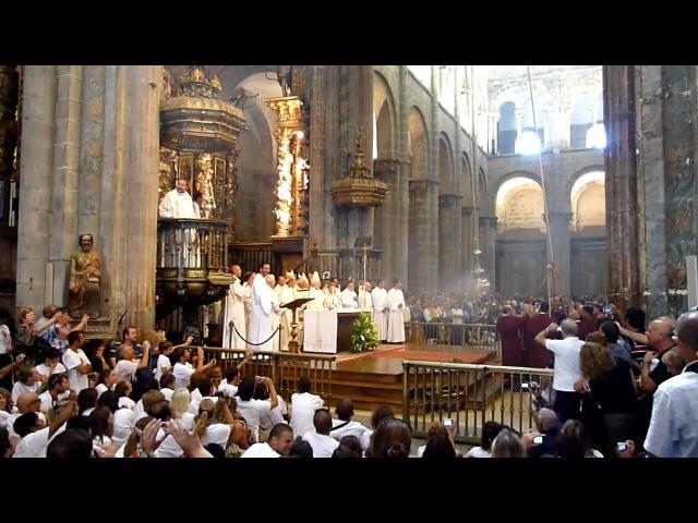 Celebrazione eucaristica Santiago De Compostela Botafumeiro