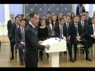 Медведев заявилКомиссию по борьбе с коррупцией в ГД должна возглавить Единая Россия!Корруп.mp4