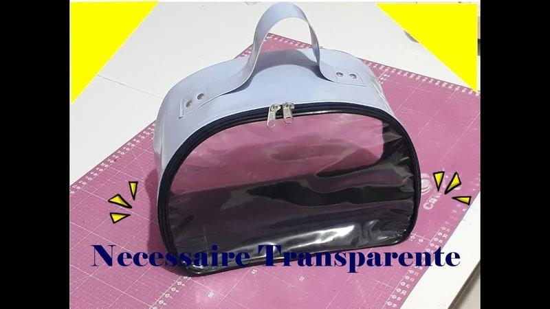 Como fazer Necessaire ou Maleta de mão com visor Transparente - CatitaSilva