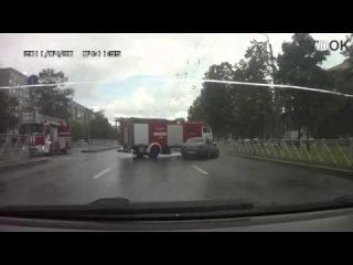 ДТП с участием пожарной машины ДТП! Авария! Видеорегистратор