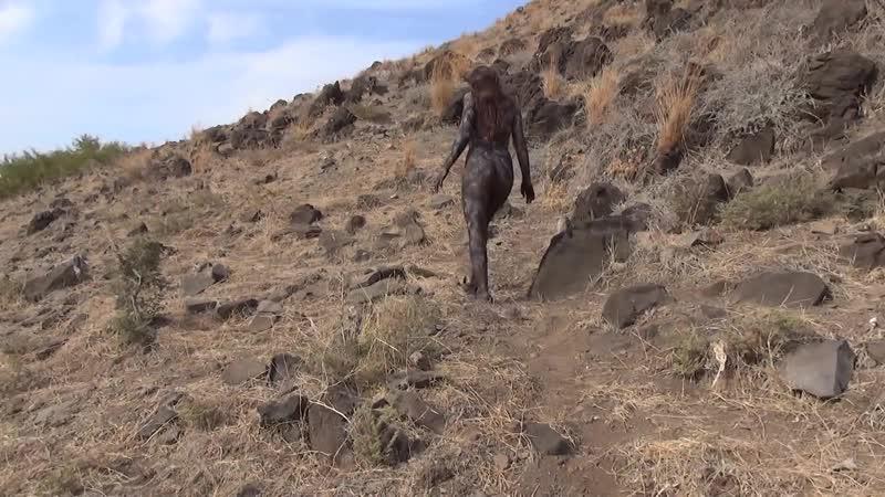 Basalt Woman body painting by Amit Bar 1080P HD