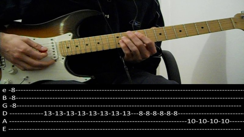 RHCP - Parallel Universe live solo (lesson w tabs)