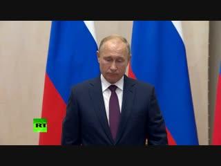Пресс-конференция Путина и египетского лидера началась с минуты молчания в память о погибших в Керчи
