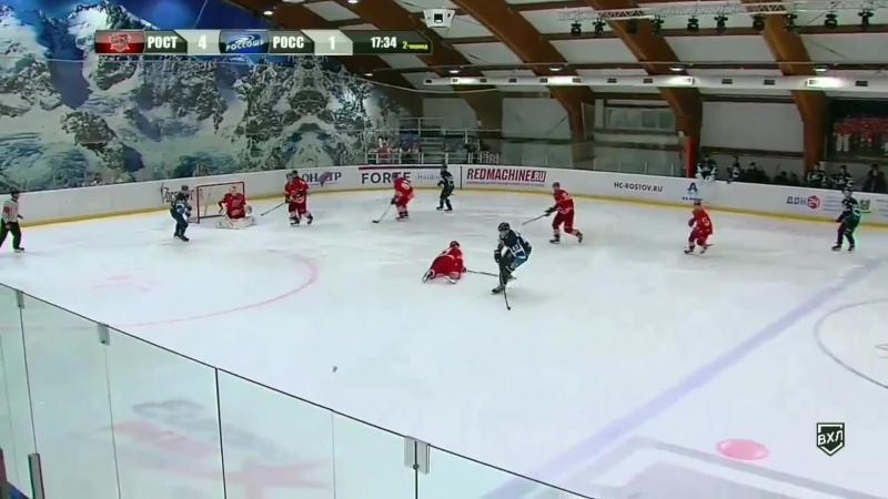 Великолепный сейв Кирилла Угарова в товарищеской игре против ХК Россошь