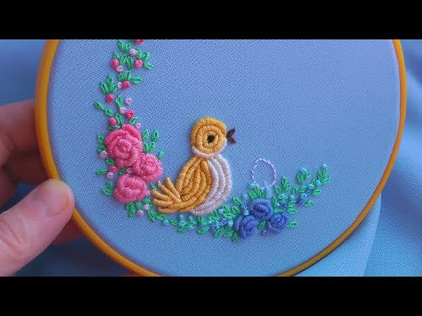 EMBROIDERY FOR BABY Bullion Knot Stitch \ ВЫШИВКА ДЛЯ МАЛЫШЕЙ