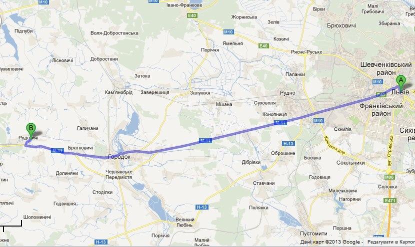 Як доїхати,как доехать со Львова,зі Львова,Як дістатися,схема проїзду
